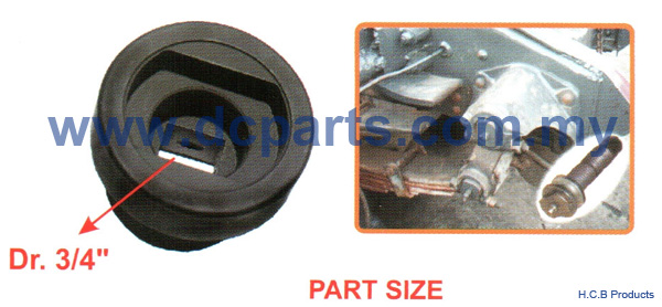 European Truck Repair Tools<br>SCANIA REAR WHEEL SHOCK ABSORBER SPRING WASHER SOCKET Dr. 3/4