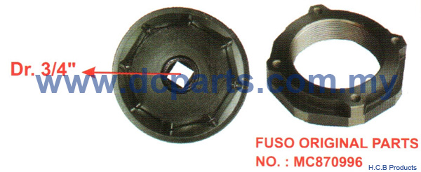 European Truck Repair Tools SCANIA 10 WHEELS CAB THIRD AXLE NUT SOCKET TOOL Dr. 3/4  8 POINTS 95mm A1050-8