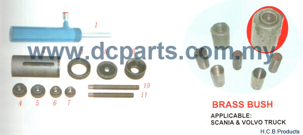 European Truck Repair Tools SCANIA & VOLVO SPRING PIN METAL BUSH REMOVE INSTALL SET HYDRAULIC A1181