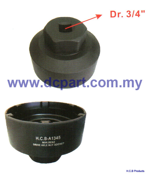 European Truck Repair Tools MAN BENZ DRIVE AXLE NUT SOCKET Dr.3/4, H60, 6 TEETH A1345