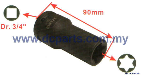 European Truck Repair Tools SCANIA SOCKET Dr. 3/4, 90mm E28 A2228