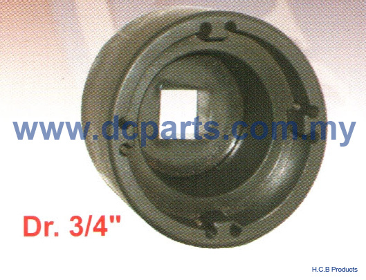 European Truck Repair Tools SCANIA TRANSMISSION CLUTCH FRONT MAIN AXLE NUT SOCKET Dr. 3/4  D1090- 08